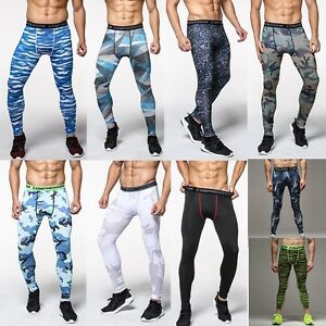 Mens Apparel Skin Tights Compression Base Under Layer Workout Fitness Long Pants