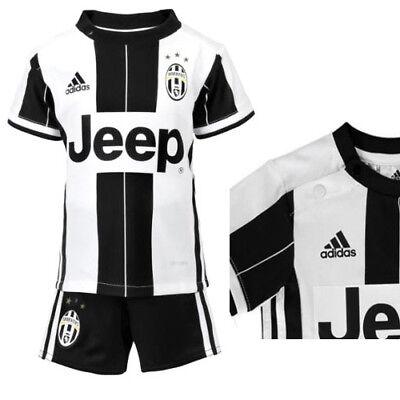 premium selection 66cba 7c804 adidas JUVENTUS Baby Football Mini Kit White Black Shirt Shorts Set 2016-17  6-9 Months / EU 74 Cm