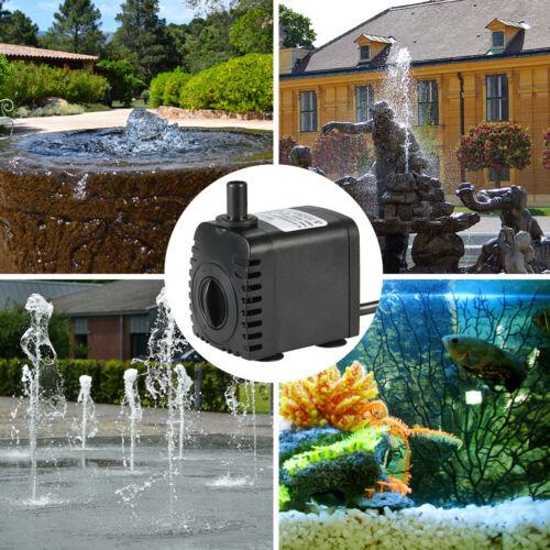 600L//H 8W Tauchwasserpumpe f// Aquarium Tabletop Brunnen Teich Wasser Gärten C3L1