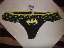 BNWT DC Batgirl Batman Frilly Thong Knickers women's ladies size 10
