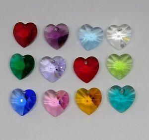 12pc Swarovski Crystal Peridot 10mm Heart 6228 Pendant; Bulk Lot; August