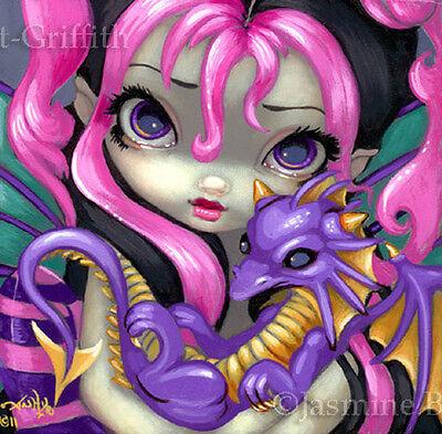 Fairy Face 142 Jasmine Becket-Griffith Art Fantasy Pixie Dragon SIGNED 6x6 PRINT