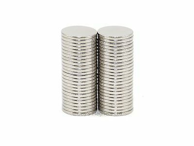 25 N35 8mm dia x 0.75mm  thin round Neodymium disk magnets MRO DIY craft fridge