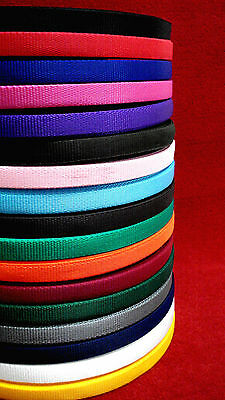 2 ,5 ,10 ,25 ,50, metres of Webbing In 17 Various Colours 20mm bags straps craft