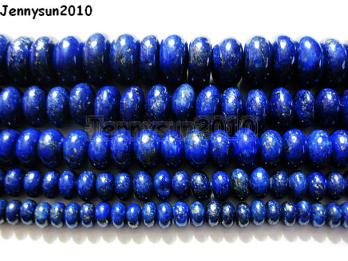Natural Lapis Lazuli Gemstone Rondelle Beads 16/'/' Strand 5mm 6mm 8mm 10mm 12mm