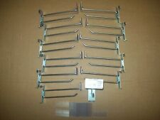 12pcs 6 Chrome Grid Wall Hooks W Price Tag Holder For Retail Heavy Duty Strong