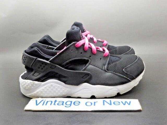 Girls Nike Air Huarache Run Black Pink