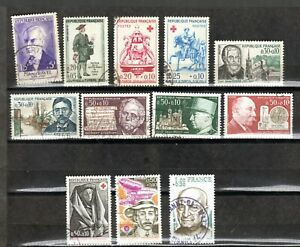 SEMI-POSTAL-USED-STAMPS-11-FROM-FRANCE-IN-EUROPE-IN-VF-CONDITION-0133
