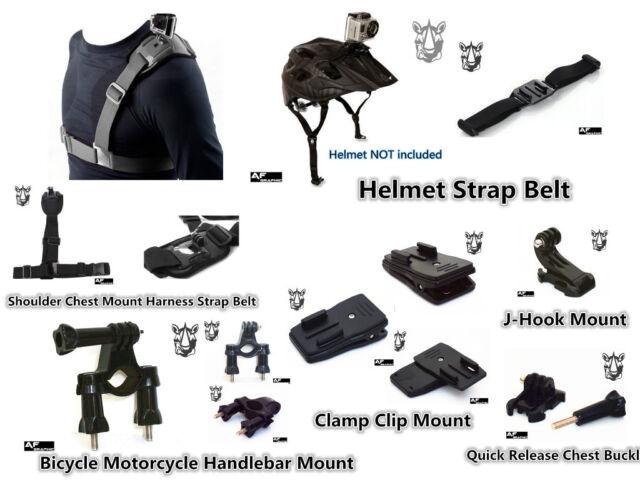 GZ1u Sport Action Camera Accessories Chest Helmet Strap Clamp Clip Bike Mount