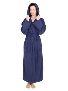 a8298085ab NDK New York Women s Hooded Terry Cloth Bath Robe 100% Cotton