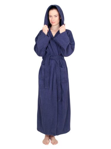 NDK New York Women/'s Hooded Terry Cloth Bath Robe 100/% Cotton