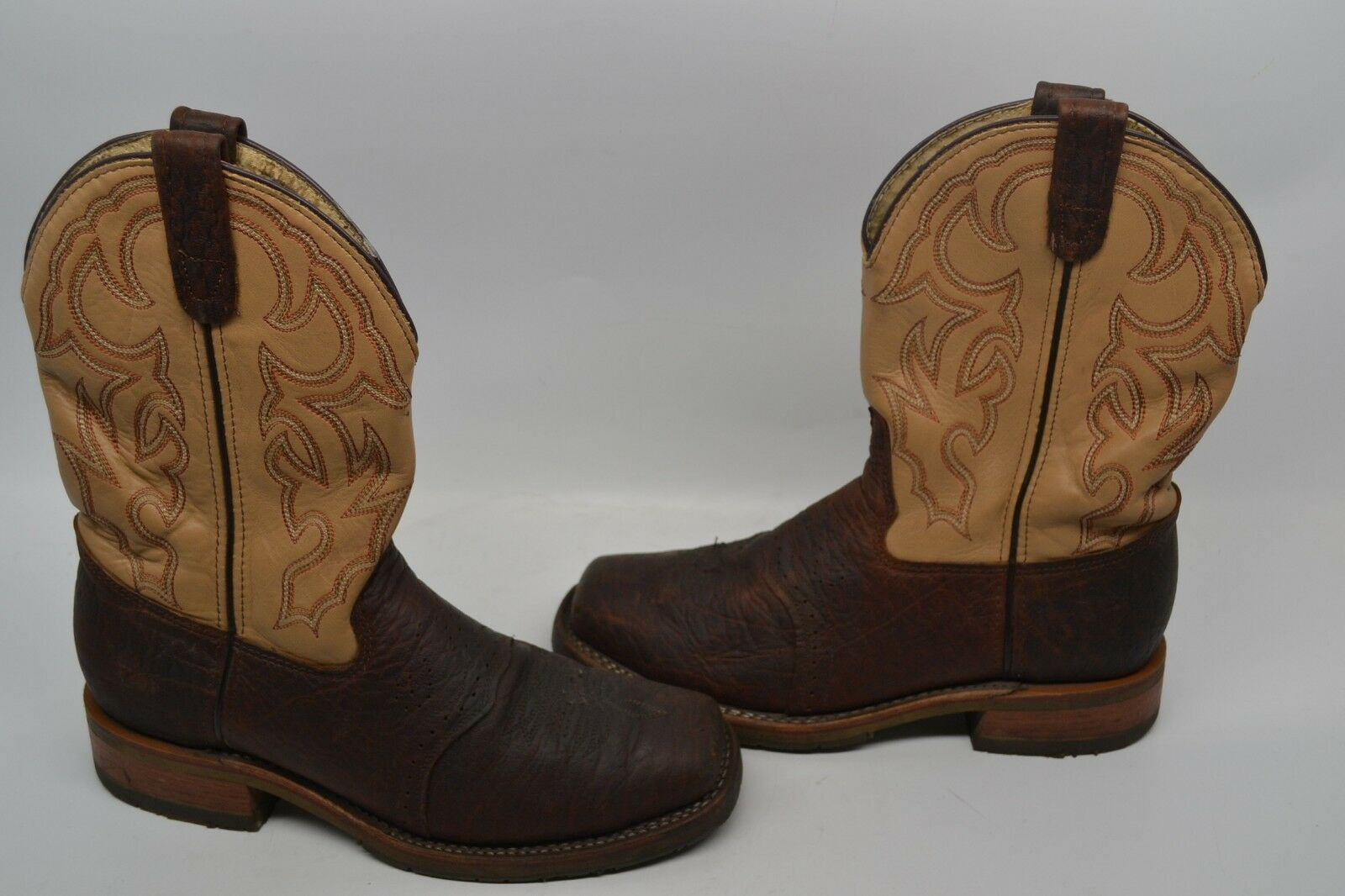 Mens Double H 10 D  Bison Square Steel Toe ICE Roper Work WESTERN Stiefel DH5305