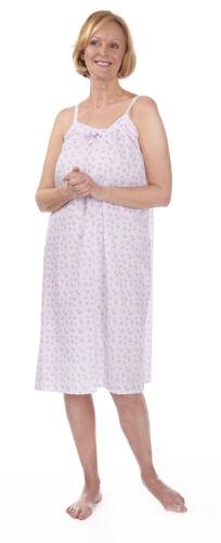 Ladies Floral Nightdress Cotton Lace Nightie Sleepwear Nightwear Plus Size New
