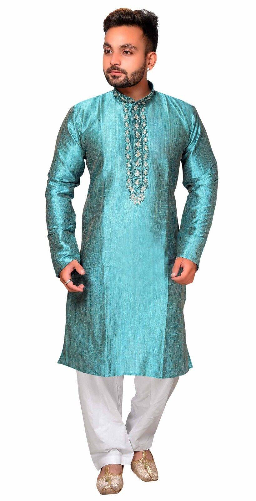 Men's South Asian Kurta Shalwar Kameez Pyjama Sherwani Wedding Party Wear 1833