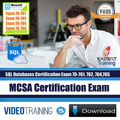 MCSA SQL Server Database Exams 70-761 70-762 70-764 70-765 Training  DOWNLOAD | eBay