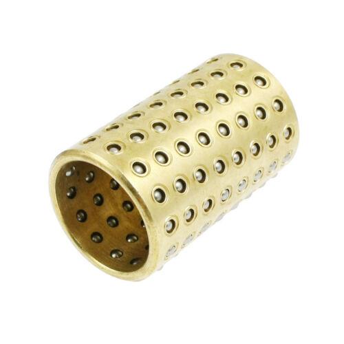 H ● 25mm X 50mm Oro Tono Latón Rodamiento retén Buje De Jaula