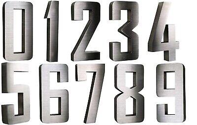 // alle Zahlen Hausnummer Edelstahl Nr.2 V2A !! H20cm New-Design in 2D