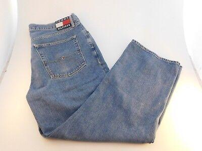 Vintage TOMMY HILFIGER HERREN STRAIGHT LEG Box Logo 90s Hip Hop Jeans Größe 40 x 30   eBay