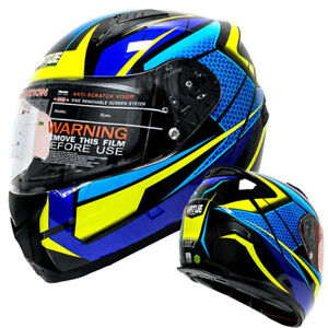 DOT-Motorcycle-Helmet-Full-Face-w-Sun-Visor-Motocross-Racing-Off-road-MTB-Helmet