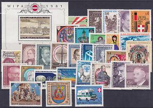 kompletter-Jahrgang-Osterreich-1981-postfrisch