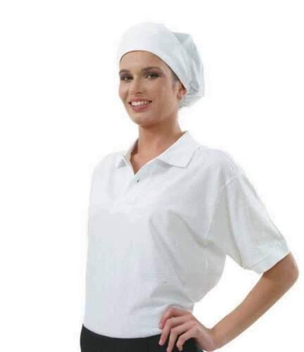 Cappello Bianco Donna Copricapo Alimentare In Rete Da Panettiera Pasticcera R001