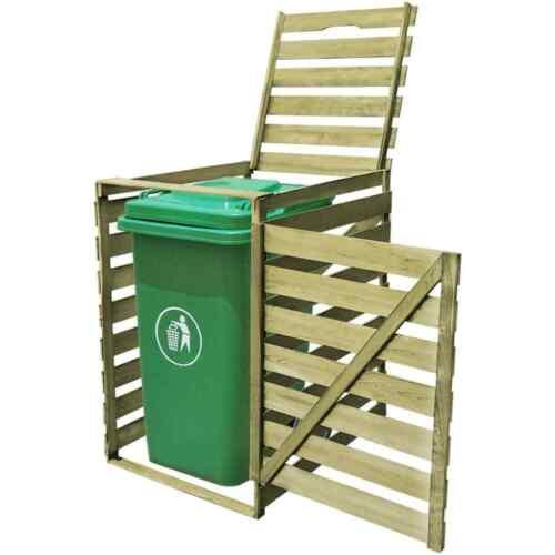 Mülltonnenbox Mülltonnenverkleidung Gartenbox für 240L 1//2//3 Mülltonnen Holz