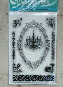 """Clear Stamps  StempelSet  """"Kronleuchter""""   Verzierungen"""