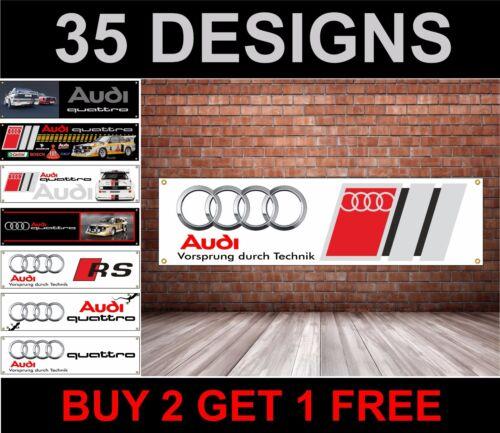 AUDI Banner Workshop Mechanics Garage Advertising pvc sign