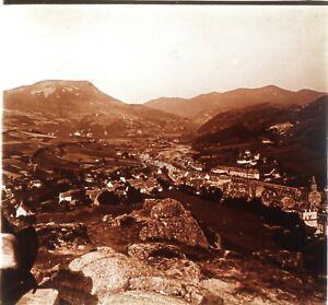 La Bourboule Francia Foto Stereo PL59L1n76 Placca Da Lente Vintage c1910