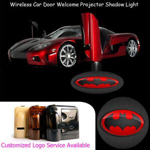 Red Bat Logo Car Door LED Laser Projector Ghost Shadow Light