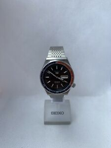 Seiko 5 Sports Automatic 6309-836A Vintage Rare Wrist Watch Japan 17Jewels Pepsi