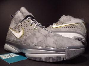 170369cc5986 Nike Zoom KOBE II 2 PRELUDE WOLF COOL GREY SILVER WHITE GOLD 640222 ...