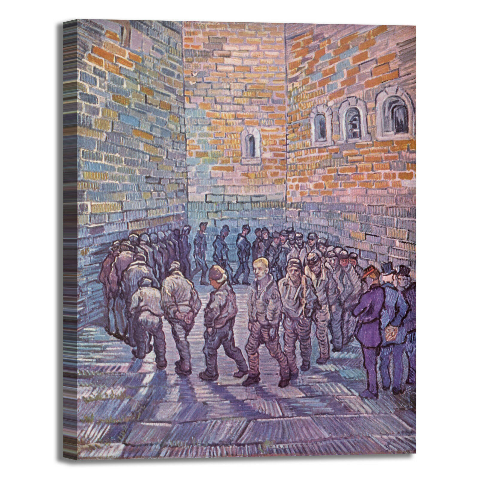 Van carcerati Gogh la ronda dei carcerati Van quadro stampa tela dipinto telaio arRouge o casa b12b62