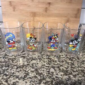 vintage mcdonalds disney glasses 2000 set of (4)