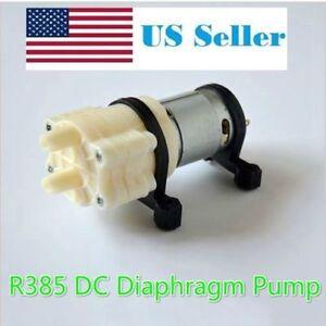 Fish & Aquariums Pet Supplies Dc 12v R385 Mini Aquarium Pump Fish Tank Motor For Diaphragm Pump Water/air Pump