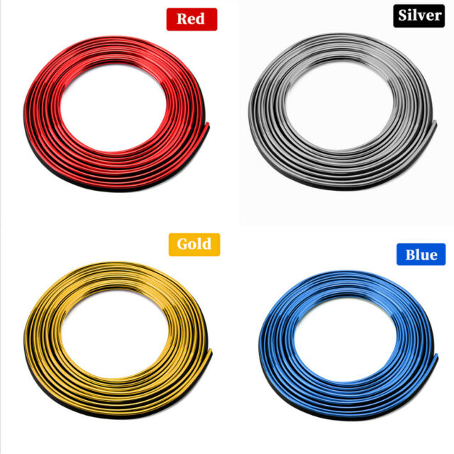 5m*4mm Yellow Car Interior Exterior Moulding Trim Decor DIY Strip Line Universal