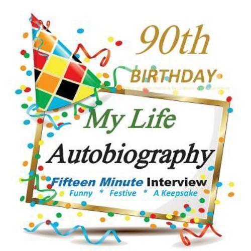 90th Birthday : My Life Autobiography, Party Favor, 90th Bir