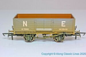 Oxford-Rail-OR76MW6001W-OO-Gauge-6-Plank-Mineral-Wagon-039-NE-039-Weathered