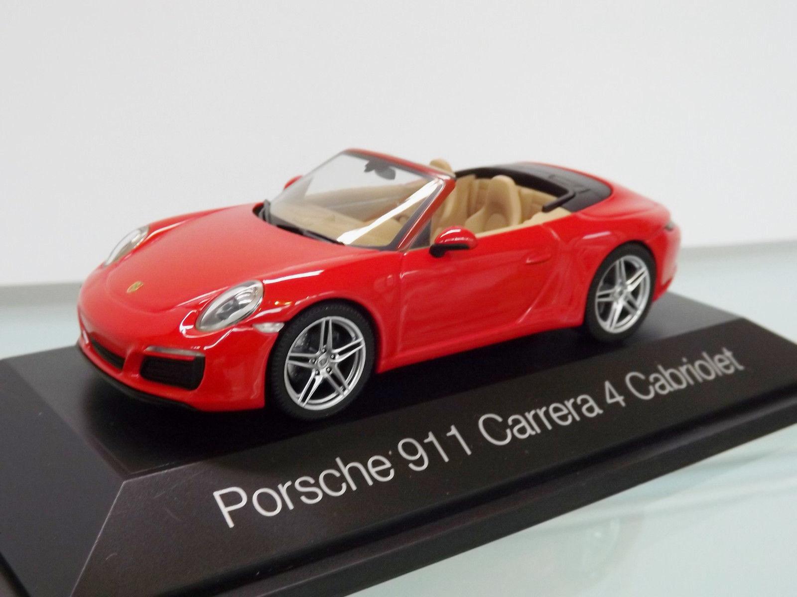Herpa 071109 - 1 43 - Porsche 911 Carrera 4 Cabriolet, INDISCHred -