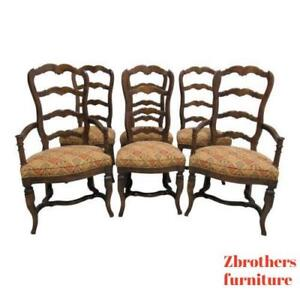 Pleasing Details About 6 Vintage Century Furnture Country French Ladder Back Dining Room Chairs Set Beutiful Home Inspiration Cosmmahrainfo