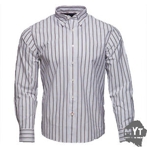 New-Rockport-Men-039-s-Frost-Striped-Long-Sleeve-Shirt-White-Size-S-M-L-XL-2XL