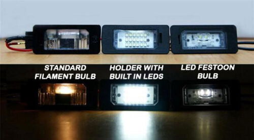 BMW E46 2DR COUPE 2003/> WHITE SMD LED NUMBER PLATE LAMP LIGHT BULB UPGRADE UNITS