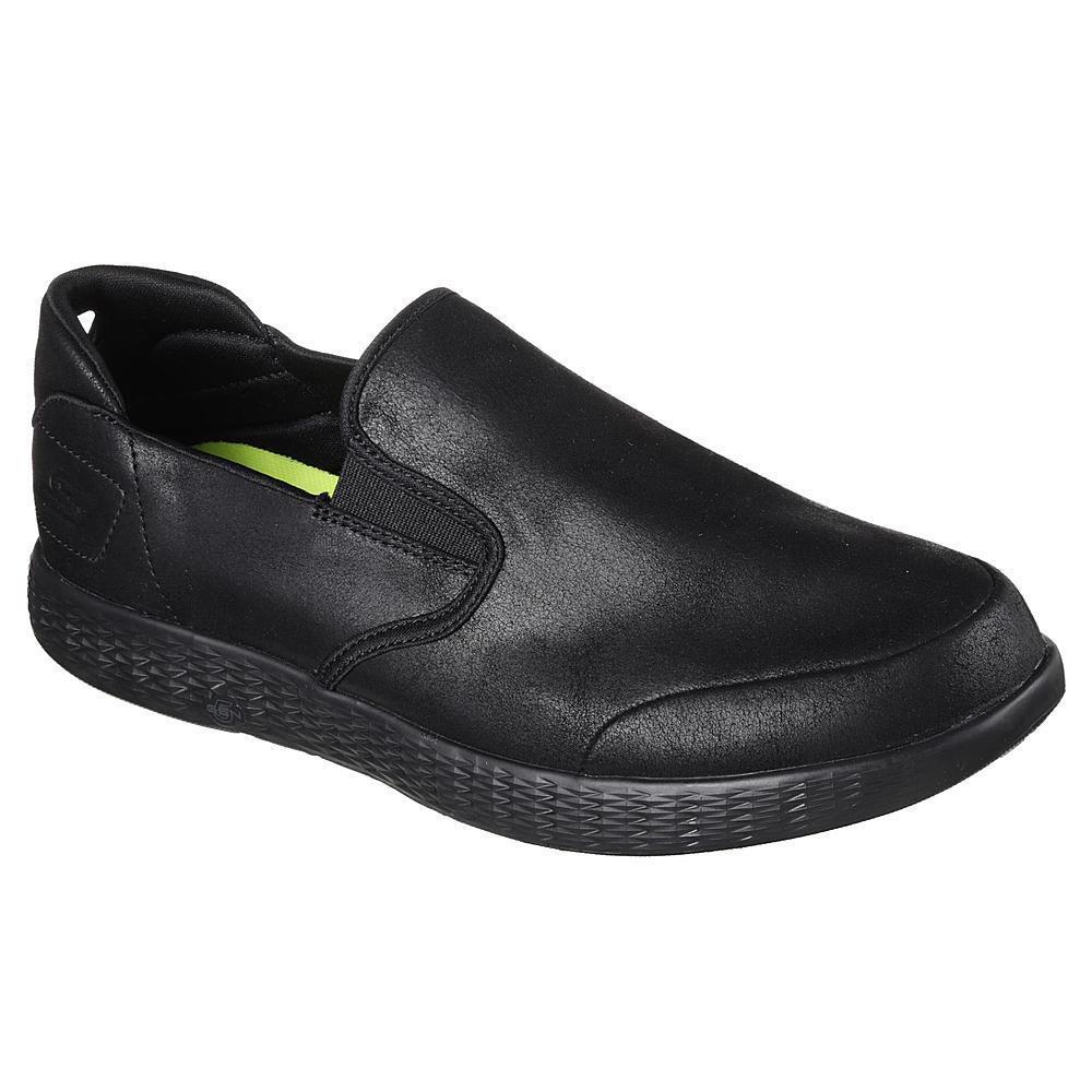 SKECHERS GO SURPASS pour homme Noir Paire De Loisirs Chaussures Taille 9 Medium