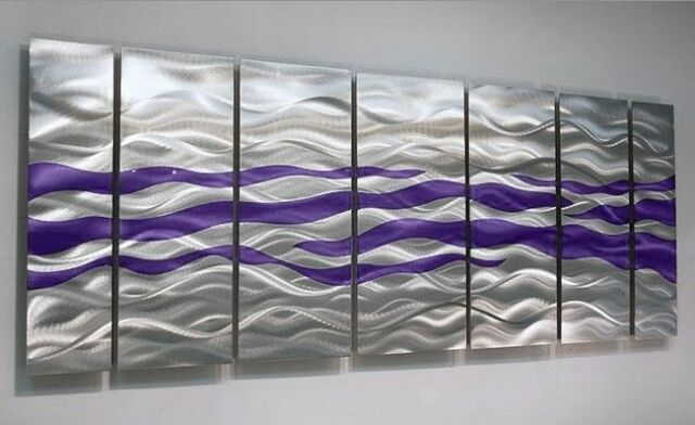 Modern Silver Metal Wall Art Accent - Contemporary Home Decor by Jon ...