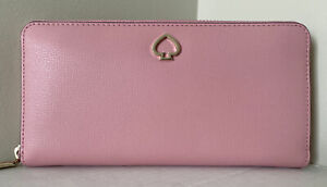 New Kate Spade New York Adel Large Continental wallet Leather Bright Carnation