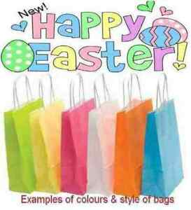 Happy easter gift bag egg hunt bags with tissue paper or image is loading happy easter gift bag egg hunt bags with negle Images