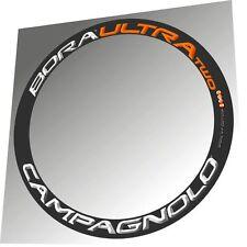 CAMPAGNOLO BORA ULTRA TWO ORANGE/WHITE 3D DESIGN REPLACEMENT RIM DECAL SET
