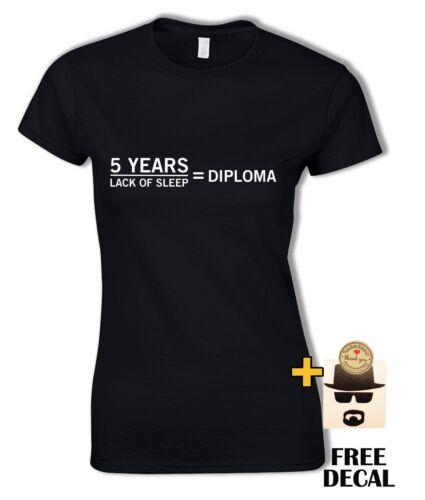 Funny Graduate T-shirt 5 ans Manque De Sommeil est diplôme cadeau pour Unisexe