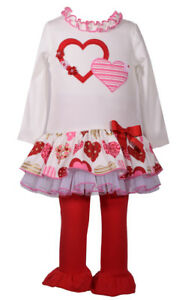 902bf8adc169b Image is loading Bonnie-Jean-Girls-Valentines-Day-Heart-Dress-Leggings-