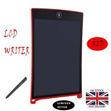 """8.5"""" inch LCD e-Writer Tablet Writing Drawing Memo Jot Message Red Boogie Board"""